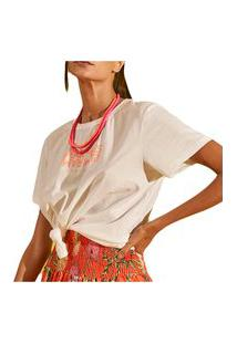 Camiseta Colcci Love Off Shell Feminino
