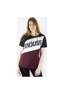 Camiseta Com Recorte Colorida Anjuss