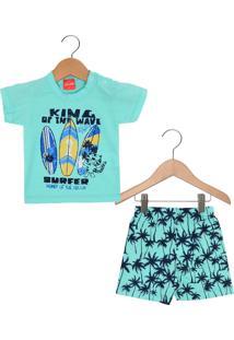 Pijama Tricae Curto Menino Azul