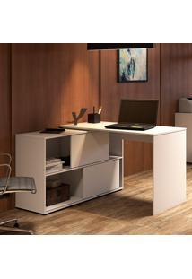 Mesa Para Computador Com 2 Portas Mingle 1200 – Artany - Branco