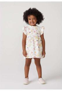 Vestido Infantil Menina Em Tecido De Algodão Toddl