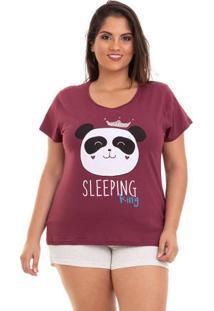 Short Doll Plus Size Manga Curta Panda Feminino Adulto Luna Cuore