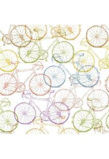 Papel De Parede Adesivo Bicicletas Coloridas (0,58M X 2,50M)