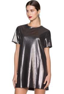 Vestido Amaro Camiseta Com Brilho - Feminino