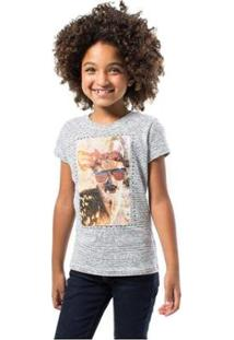 Camiseta Bebê Alce Reserva Mini Feminina - Feminino-Branco