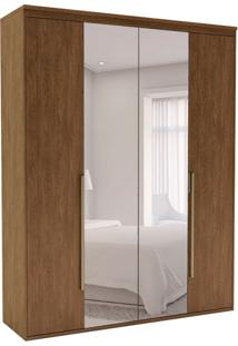 Guarda-Roupa Casal Com Espelho Originale 4 Pt 3 Gv Ébano