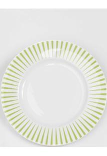 Prato Para Sobremesa Porcelana Schmidt - Dec. Sol Verde