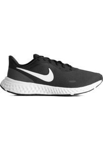 Tênis Masculino Nike Revolution 5 Corrida Preto/Branco - 37
