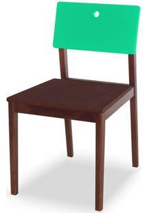 Cadeira Flip Cor Cacau Com Encosto Verde Anis - 31137 Sun House
