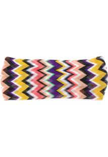 Missoni Zig Zag Knitted Headband - Amarelo