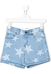 Stella Mccartney Kids Short Com Estampa De Estrelas - Azul