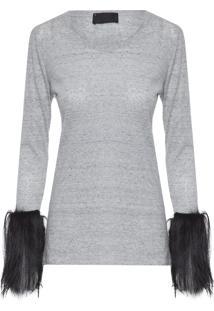 Camiseta Feminina Ismeria Ab - Cinza
