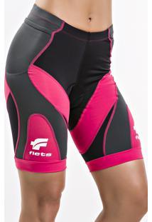 Bermuda Ciclismo X3X Rosa 014-1 Fem - Fletsport