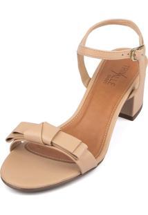 Sandália Trivalle Shoes Bege Claro Com Laço