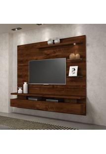Painel Home Suspenso Dj Móveis Greco Para Tv Até 65'' 1 Porta Basculante 1 Luminária Em Led Rústico