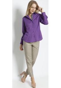 Camisa Com Recortes   Pregas- Roxa   Preta- Vip Resevip Reserva 63ff2f95e2