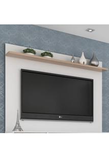 Painel Para Tv Até 50 Polegadas Friso Siena E Branco 160 Cm