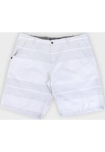 Bermuda Gajang Listrada Plus Size Masculina - Masculino-Cinza