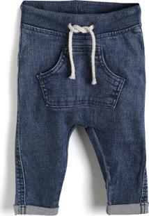 Calça Jeans Hering Kids Menino Lisa Azul-Marinho