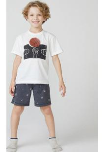 Pijama Manga Curta Menino Em Malha