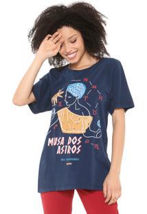 Camiseta Cantão Musa Dos Astros Azul-Marinho