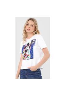 Camiseta Cativa Disney Estampada Mickey Branca