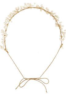 Jennifer Behr Headband Com Aplicações - Dourado