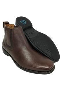 Sapato Botina Masculina Sollu Pinhão