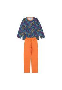 Pijama Juvenil Sport Marinho 2825 - Kappes