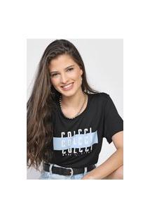 Camiseta Colcci Made Of Stars Preta