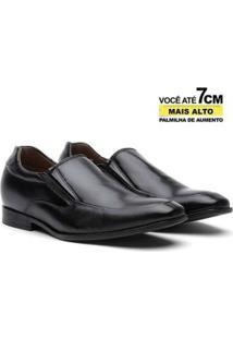 Sapato Social Couro Youth Class Elevation De Elástico Masculino - Masculino