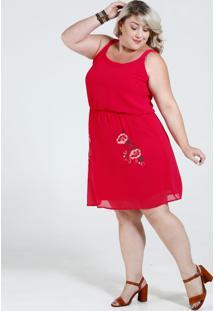 Vestido Feminino Bordado Floral Plus Size Marisa