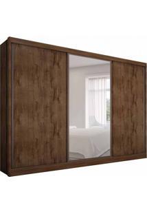 Guarda-Roupa Casal Com Espelho Spazzio 3 Pt 6 Gv Canela