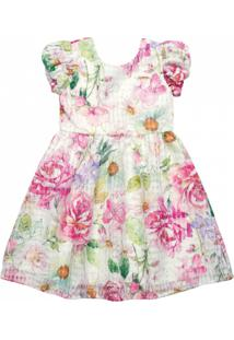 Vestido Em Tecido Organza Quimby Floral