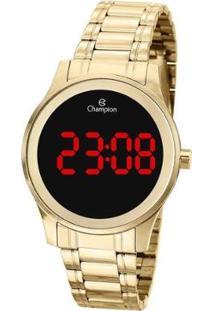 Relógio Champion Digital Ch48046H Feminino - Feminino-Dourado