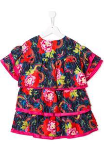 Kenzo Kids Vestido Com Estampa Floral - Vermelho