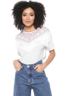 Camiseta Lez A Lez Bandana Franjas Branca - Kanui