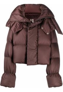 Rick Owens Cropped Puffer Jacket - Marrom