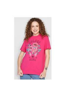 Camiseta Colcci Cosmic Rosa