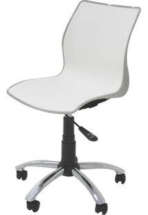 Cadeira Maja Com Rodizio Cor Camurca C/ Branco - 19608 - Sun House