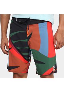 Bermuda Osklen Surf Tropi Color Masculina - Masculino