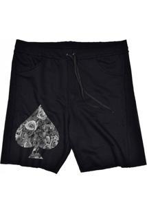 Bermuda Tecido Skull Clothing Poker Preto - Preto - Masculino - Dafiti