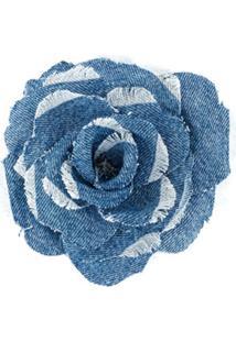 Philosophy Di Lorenzo Serafini Broche Jeans Floral - Azul