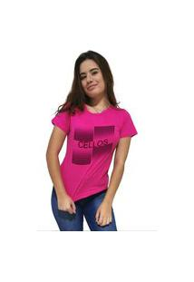 Camiseta Feminina Cellos Degradê Premium Rosa
