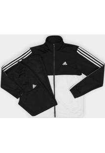 Agasalho Adidas Back 2 Basic 3S Masculino - Masculino-Branco+Preto