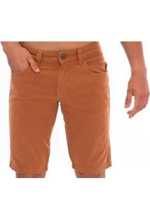 Bermuda Jeans Slim Confort Aee Surf Masculina - Masculino-Caramelo
