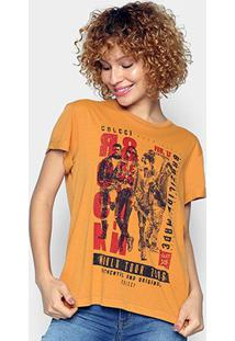 Camiseta Colcci Rock Revolution Feminina - Feminino-Amarelo