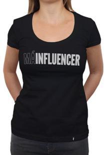 Má Influencer - Camiseta Clássica Feminina