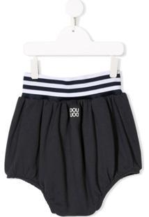 Douuod Kids Short Cintura Alta - Azul