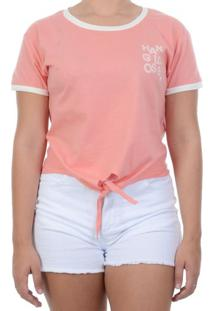 Blusa Hang Loose Baby Look - Salmao / M